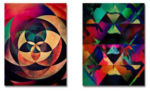 DYC Geometric Roses Print Art Painting for Home Decoration - multicolor