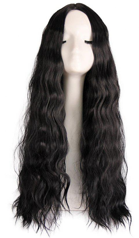 Big Wave Central Parting Hair Style Long Wig - BLACK