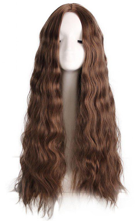 Big Wave Central Parting Hair Style Long Wig - BROWN