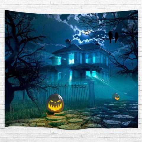 The Courtyard Pumpkin 3D Printing Home Wall Hanging Tapestry for Decoration - multicolor W153CMXL130CM