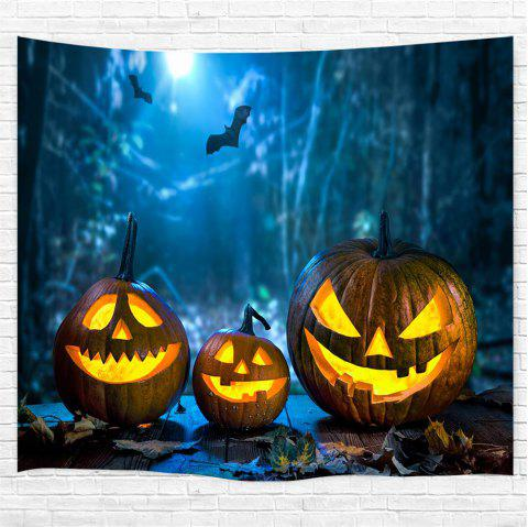 Three Jack-O-Lanterns 3D Printing Home Wall Hanging Tapestry for Decoration - multicolor W153CMXL130CM