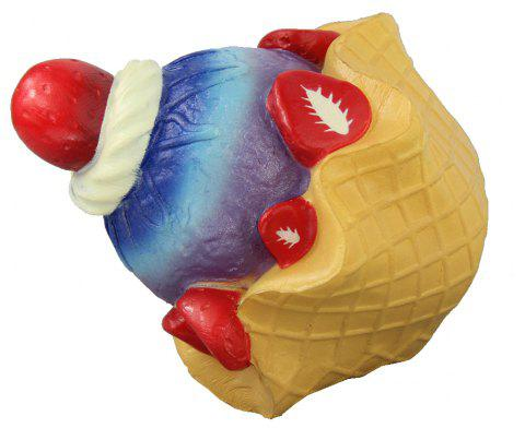 Jumbo Squishy Strawberry Pie Toy - multicolor