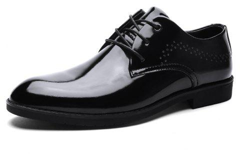 Breathable Leather Men'S Business Casual Shoes - multicolor B EU 43