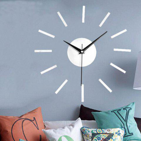 DIY Modern Contemporary Acrylic AA Wall Clock - SILVER