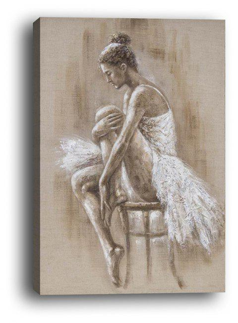 Dancing Girl Box Canvas Modern Dance Room Decoration Painting - multicolor 40CMX60CM