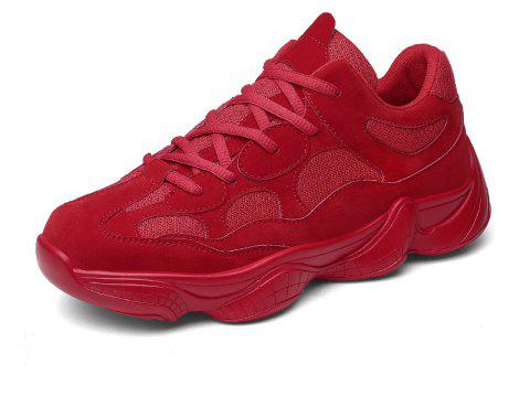 Men's Summer New Mesh Breathable Casual Running Shoes - RED EU 41