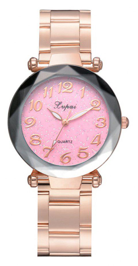 P694 Fashion Popular Starry Classic Digital Stainless Steel Watch - PINK