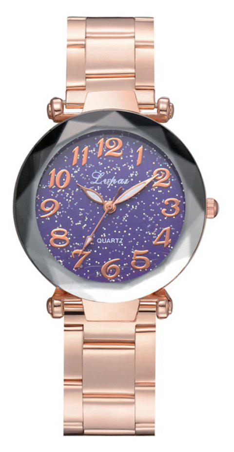 P694 Fashion Popular Starry Classic Digital Stainless Steel Watch - PURPLE