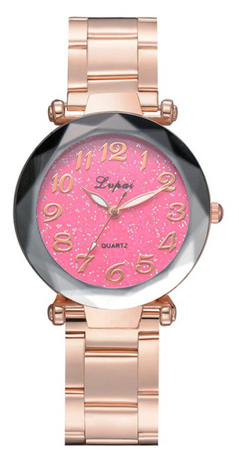P694 Fashion Popular Starry Classic Digital Stainless Steel Watch - ROSE RED