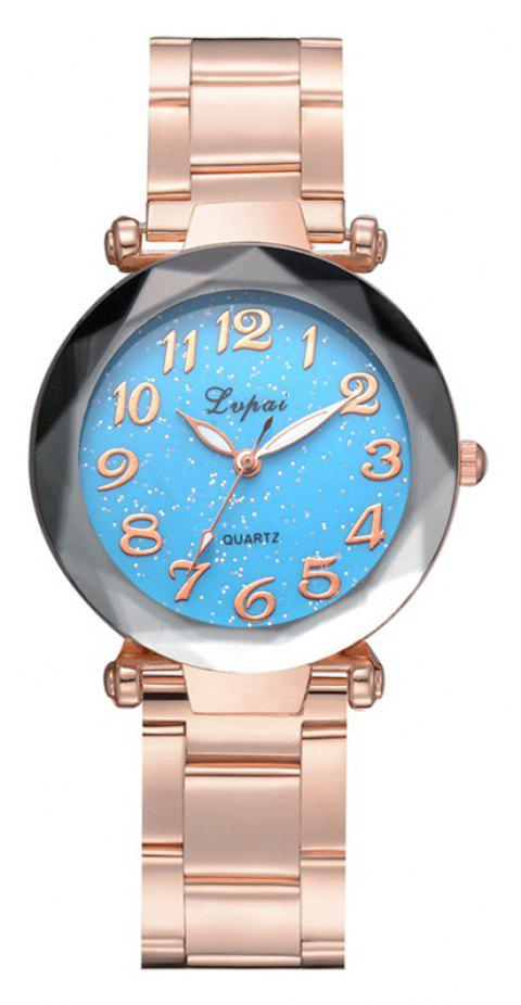 P694 Fashion Popular Starry Classic Digital Stainless Steel Watch - DAY SKY BLUE