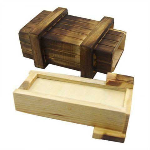 Wooden Puzzle Room Escape Tricky Toy Wood Bored Organ Box - BURLYWOOD