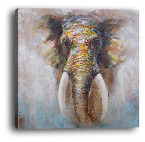 Framed Canvas Abstract Animal Elephant Modern Living Room Hotel Painting - multicolor 50CMX50CM