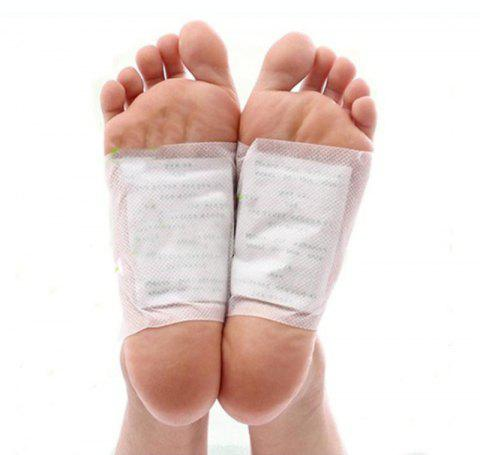 5 Detoxification Foot Patch Foot Care Sticker Effective Against Fat Burning - WHITE 5PCS