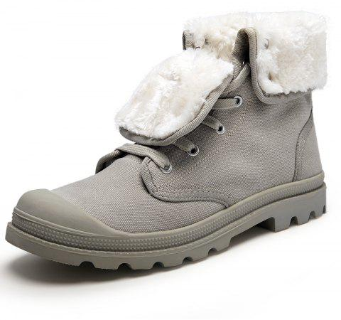 Men Business Casual Warm Snow Shoes Ankle Boots - LIGHT GRAY EU 40
