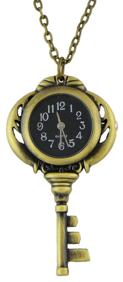 Fashion Jewelry Cute Key Pocket Watch with Long Chain - multicolor