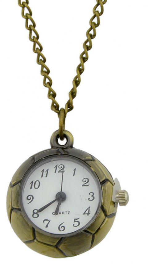 Cute Football Pendant Pocket Watch with Metal Long Chain - multicolor