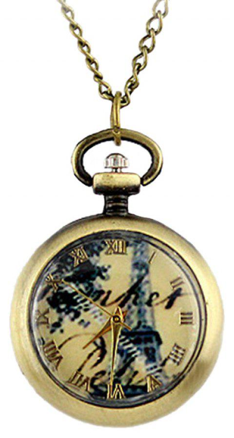Pattern Background Fashion Small Size Pocket Watch - multicolor