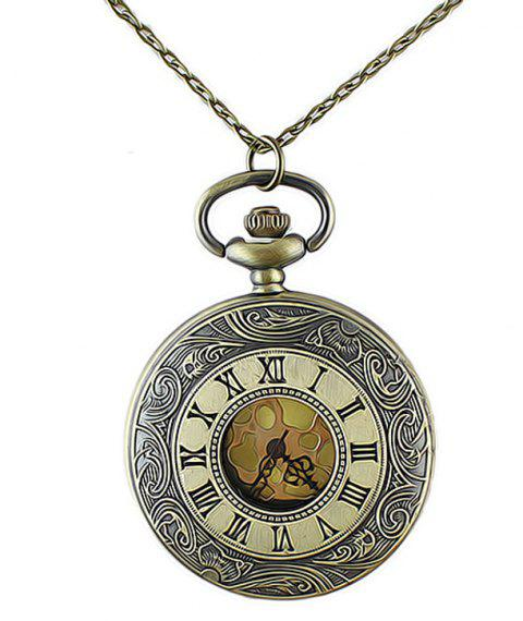 Roman Numerals Fashion Elegant Pocket Watch - multicolor