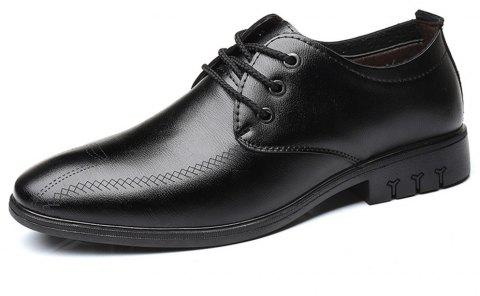 Fashion  Leather Casual Business Shoes For Men - BLACK EU 42