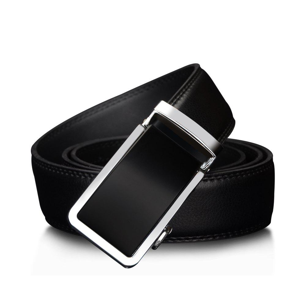 COWATHER Leather Automatic Buckle Casual Fashion Business Men'S Belt