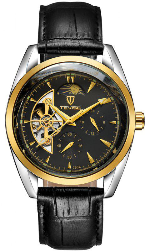 TEVISE Men's Casual Business Tourbillon Star Automatic Mechanical Watch - NIGHT