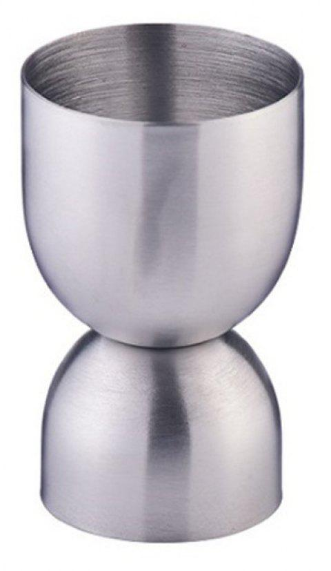 Stainless Steel Double-Head Measuring Cup Bar Bartending Tool - SILVER