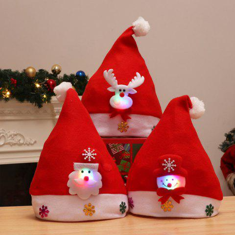 3PCS Holiday Inspirational Textile Hats for Christmas Party - multicolor
