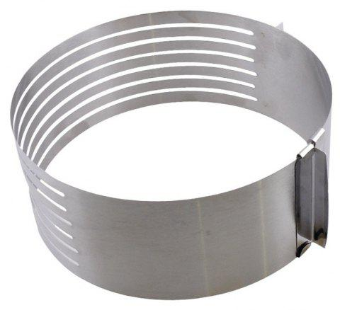 Thickened Adjustable Layered Stainless Steel Telescopic Round Baking Mold - SILVER 6-8 INCHES