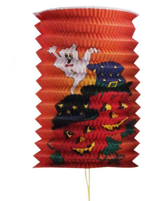 Halloween Paper Lanterns with Pumpkin Spider Ghost Witches Pattern - multicolor 4PCS