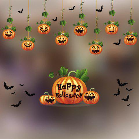 Halloween Wall Sticker Decal Removable for Home Decoration - multicolor D 14 X 20 INCH