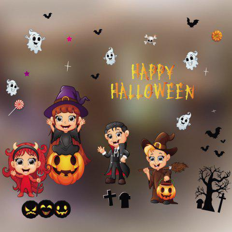Halloween Wall Sticker Decal Removable for Home Decoration - multicolor B 14 X 20 INCH