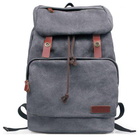 Vintage Unisex Canvas Backpack Casual Bag for College - SMOKEY GRAY