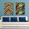 DYC 2PCS Geometric Lines Print Art - multicolor