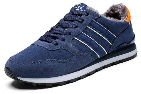 Men Winter Cotton-Padded Fashion Classical Sneakers - DEEP BLUE EU 39