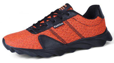Blade Explosion Bottom Mesh Sneakers Casual Shoes - DARK ORANGE EU 44