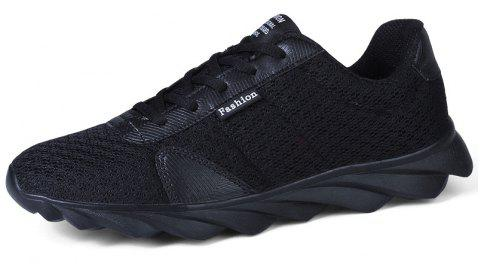 Blade Explosion Bottom Mesh Sneakers Casual Shoes - BLACK EU 39