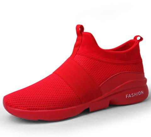 New Breathable Mesh Running Tide Casual Sports Shoes - RED EU 39