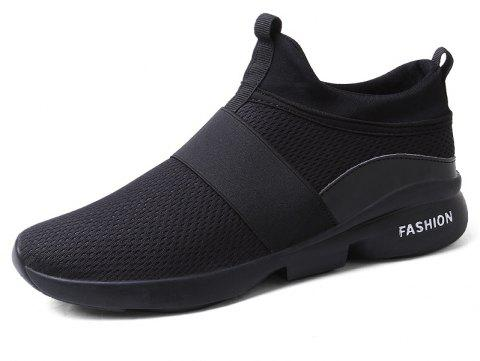 New Breathable Mesh Running Tide Casual Sports Shoes - BLACK EU 43