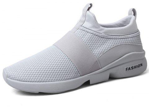 New Breathable Mesh Running Tide Casual Sports Shoes - LIGHT GRAY EU 43