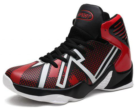 Spring High-top Sports Large Size Basketball Shoes - LAVA RED EU 44