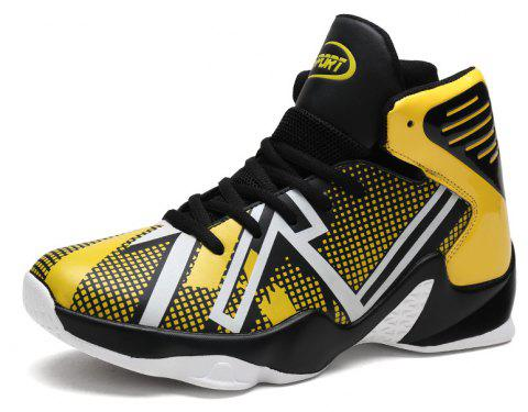 Spring High-top Sports Large Size Basketball Shoes - SUN YELLOW EU 39