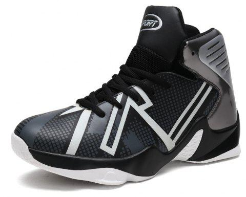 Spring High-top Sports Large Size Basketball Shoes - SILVER EU 44