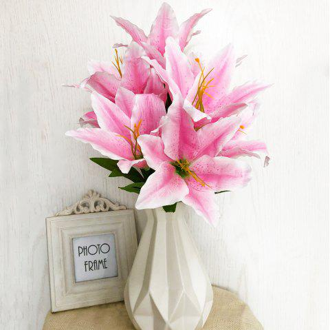 Pink Lily Artificial Flower for Home Decoration - PIG PINK
