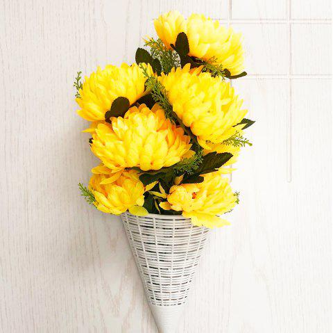 Yellow Snapdragon Decorative Artificial Flower Bouquet - RUBBER DUCKY YELLOW