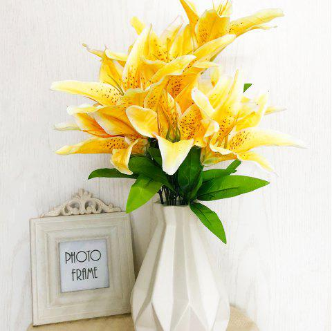 2018 yellow lily home decoration artificial flowers in yellow yellow lily home decoration artificial flowers yellow mightylinksfo
