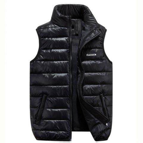 Men's  Casual Fashion Wild Multi-Color Vest - BLACK M