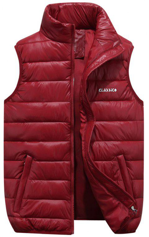 Men's  Casual Fashion Wild Multi-Color Vest - RED WINE 5XL
