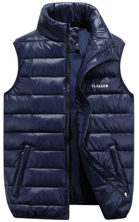 Men's  Casual Fashion Wild Multi-Color Vest - DEEP BLUE M