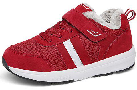 Women Fashion Casual Anti-Slip Warm Running Sports Shoes - RED EU 40