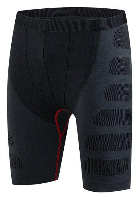 Men's PRO Sports Fitness Running Stretch Quick Dry Shorts - RED L